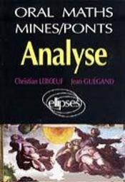 Oral De Mathematiques Mines/Ponts Analyse - Intérieur - Format classique