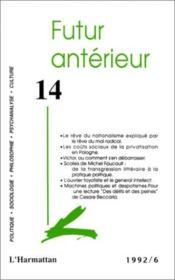 Futur Anterieur 14 - Couverture - Format classique