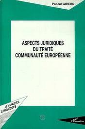 Aspects Juridiques Du Traite Communaute Europeenne - Intérieur - Format classique