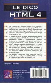 Le Dico Reference Hyml 4 - 4ème de couverture - Format classique