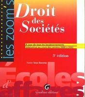 Zoom's - droit des societes (3e édition) - Intérieur - Format classique