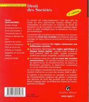 Zoom's - droit des societes (3e édition) - 4ème de couverture - Format classique