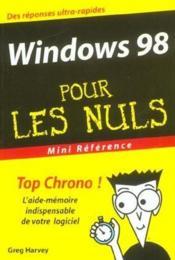 Windows 98 pour les nuls - Couverture - Format classique