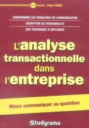 L'analyse transactionnelle dans l'entreprise - Intérieur - Format classique