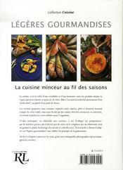 Légères gourmandises ; la cuisine minceur au fil des saisons - 4ème de couverture - Format classique