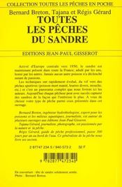 Toutes Les Peches Du Sandre - 4ème de couverture - Format classique