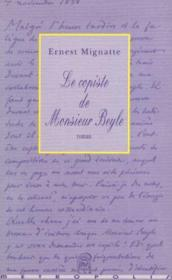 Le copiste de monsieur beyle - Couverture - Format classique