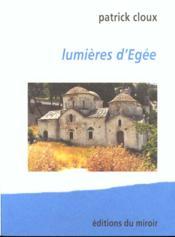 Lumieres d'egee - Couverture - Format classique