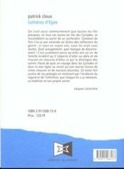 Lumieres d'egee - 4ème de couverture - Format classique