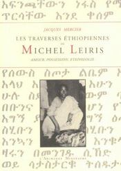 Les traverses ethiopiennes de michel leiris - Intérieur - Format classique