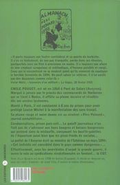 Emile pouget, la plume rouge et noire du pere peinard - 4ème de couverture - Format classique