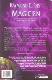 Magicien ; la guerre de la faille t.1 (édition intégrale) - 4ème de couverture - Format classique