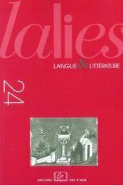 Revue Lalies N.24 - Intérieur - Format classique