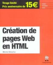 Creation De Page Web En Html - Intérieur - Format classique