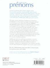 L'Officiel Des Prenoms - 4ème de couverture - Format classique