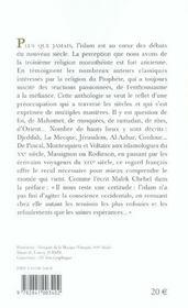 L'islam, passion francaise ; une anthologie - 4ème de couverture - Format classique