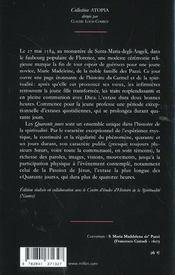 Quarante Jours 1584 (Les) - 4ème de couverture - Format classique