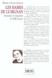 Dames De Lusignan, Histoire Et Mystere Xe - Xiiie - 4ème de couverture - Format classique