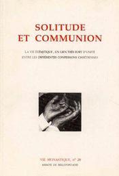 Solitude et communion - Couverture - Format classique