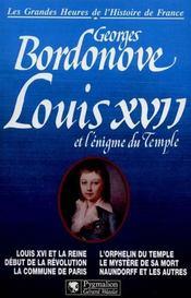 Louis Xvii Et L'Enigme Du Temple Br - Intérieur - Format classique