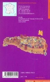 La Cite De Carcassonne - 4ème de couverture - Format classique