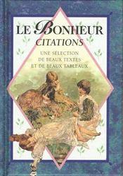 Le Bonheur Citations - Intérieur - Format classique