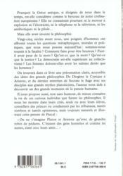 Les Grands Philosophes De La Grece Antique - 4ème de couverture - Format classique
