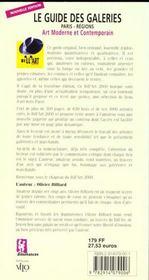 Bill art 2000 guide des galeries - 4ème de couverture - Format classique