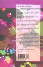 Nid de coucou - 4ème de couverture - Format classique