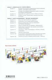Sante Publique Medecine Du Travail Enc - 4ème de couverture - Format classique