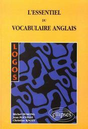 Logos L'Essentiel De Vocabulaire Anglais - Intérieur - Format classique