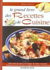Grand Livre Des Recettes De Cuisine (Le) - Intérieur - Format classique