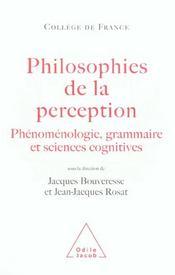 Philosophies De La Perception - Intérieur - Format classique
