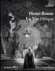 Henri Ronse, La Vie Oblique - Couverture - Format classique