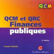 Qcm Et Qcr Finances Publiques (3e édition) - Intérieur - Format classique