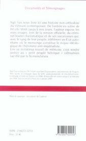 Le Joueur De Flute Et L'Oncle Ho - Vietnam 1945-2005 - 4ème de couverture - Format classique