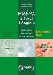 Environmental issues ; prépa à l'oral d'anglais - Intérieur - Format classique