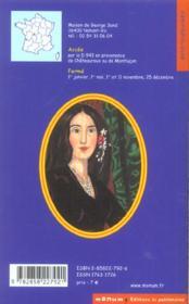 Maison De George Sand A Nohan (La) - 4ème de couverture - Format classique