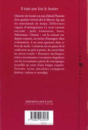Il Etait Une Fois Le Sentier - 4ème de couverture - Format classique