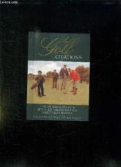 Le golf citations - Couverture - Format classique
