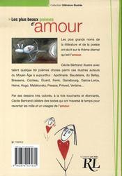 Les plus beaux poèmes d'amour - 4ème de couverture - Format classique