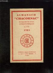 Almanach Chacornac. 1983. Ephemerides Astronomiques. - Couverture - Format classique