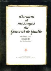 DISCOURS , MESSAGES ET DECLARATIONS DU GENERAL DE GAULLE. EDITION COMPLETE. 2em SERIE. OCTOBRE 1941 - DECEMBRE 1942. - Couverture - Format classique