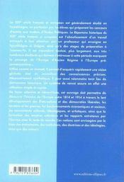 Répertoire historique du xix siècle français et européen - 4ème de couverture - Format classique