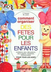 Comment Organiser Des Fetes Pour Les Enfants - Intérieur - Format classique