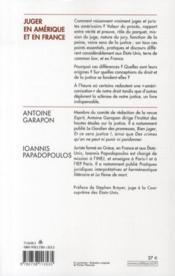 Juger en Amérique et en France - 4ème de couverture - Format classique