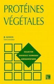 Proteines vegetales, 2e ed. (collection staa) - Couverture - Format classique