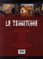 Le territoire t.5 ; palingénesie - 4ème de couverture - Format classique