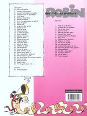 Léonard t.11 ; génie du bal - 4ème de couverture - Format classique
