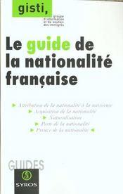 Guide de nationalite francaise - Intérieur - Format classique